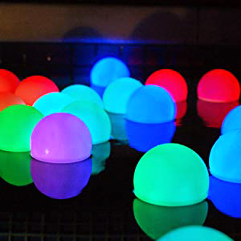 Floating Pool Lights Waterproof LED Ball Light RGB Color Changing Light Up Balls For Pool Pond Party Holiday Home Decor 8CM