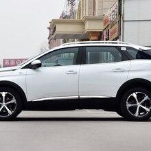 Car styling detector Acero inoxidable cromo lado puerta, cubierta de carrocería trim sticks Strips Molding 4 Uds para Peugeot 4008/3008 16 17 18