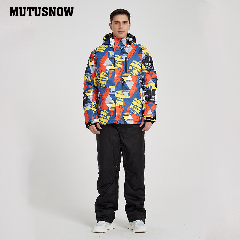 Men's Ski Suit 2019 New Outdoor Warm Waterproof Windproof Breathable Male Winter Snowboard Jacket And Pants Snow Suit Set Brands