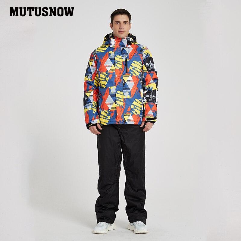 Men's Ski Suit 2019 New Outdoor Warm Waterproof Windproof Breathable Male Winter Snowboard Jacket And Pants Snow Suit Set Brands