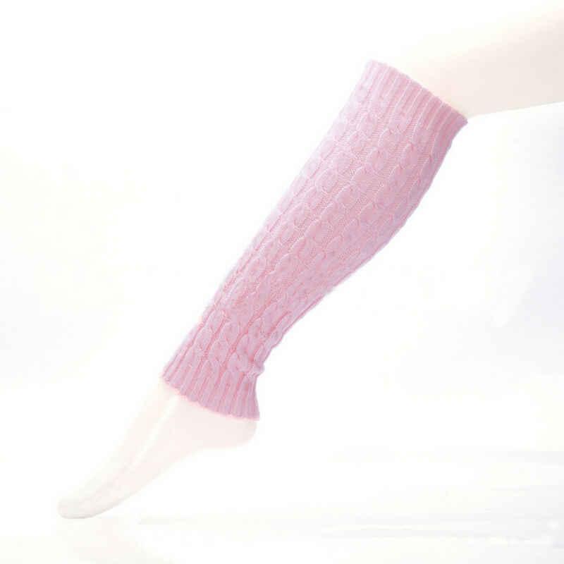 Bacak Isıtıcıları Kadınlar Rahat Sıcak Diz Yüksek Kış Örgü Tığ Önyükleme Çorap Slouch