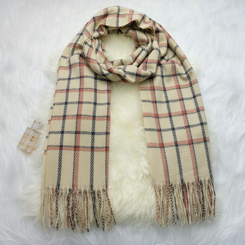 Autumn And Winter Scarf Europe And America Creative-Couples Faux Cashmere Plaid Scarf Tassels Warm Shawl A Generation Of Fat