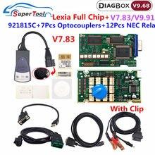 Pp2000 lexia diagbox v7.83 completo chip firmware 921815c para peugeot para citroen obd2 ferramenta de diagnóstico do carro lexia3 v48/v25 código ler