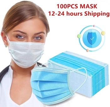 24 hours Shipping Disposable Anti dust Protective Mask 3 Protect Layers Filter Earloop Mouth Dustproof Mask respirator