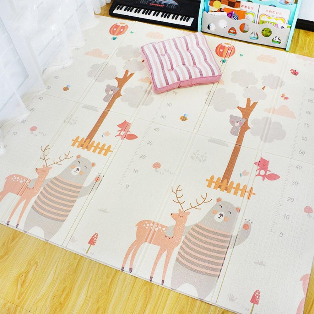 Hf43d75d4d16941689461fe6bbdd2d5c39 XPE Environmentally Friendly Thick Baby Crawling Play mat Folding Mat Carpet Play Mat For Children's Mat Kid Rug Playmat