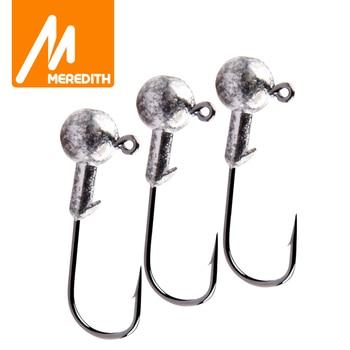 MEREDITH 10PCS Lead Jig Head 1.5g 2g 3.5g 5g 7g 10g 14g Lead Head Hook Jig Fishing Hook jig pike fishing accessories