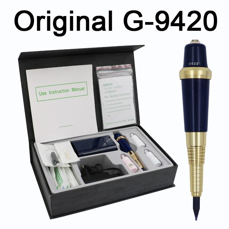 Полная Тайваньская G 9420 машинка для татуировки бровей ручка для перманентного макияжа Основные брови вечный макияж комплект татуировки с ч