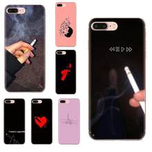 I Need Cigarette Art Print Transparent TPU Cover For Xiaomi Redmi Mi 4 7A 9T K20 CC9 CC9e Note 7 9 Y3 SE Pro Prime Go Play(China)