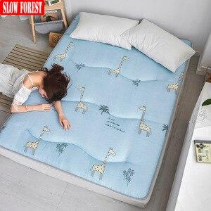 Медленный лес утолщение матрац татами коврик Противоскользящая мебель для спальни студенческого общежития queen Matress
