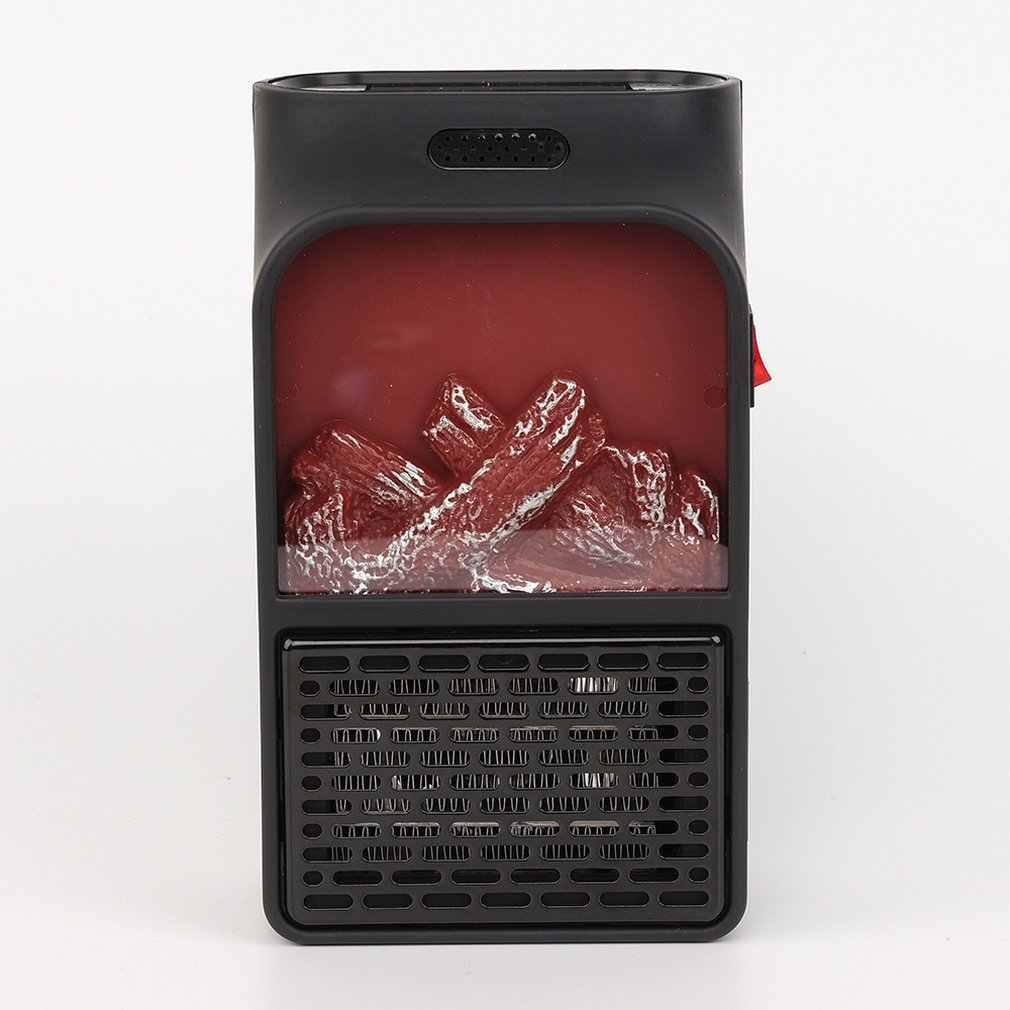 Kreatywny domowy podgrzewacz Mini przenośny wielofunkcyjny symulacja płomieni grzejnik elektryczny pilot zdalnego sterowania