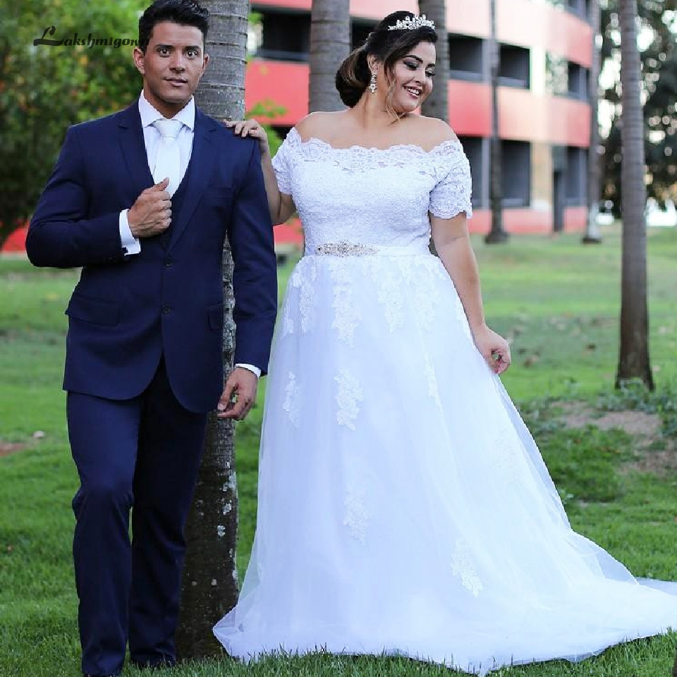 Lakshmigown South African Bridal Dress Off Shoulder Plus Size Wedding Gowns Corset Lace-up Back Custom Made A Line Wedding Dress