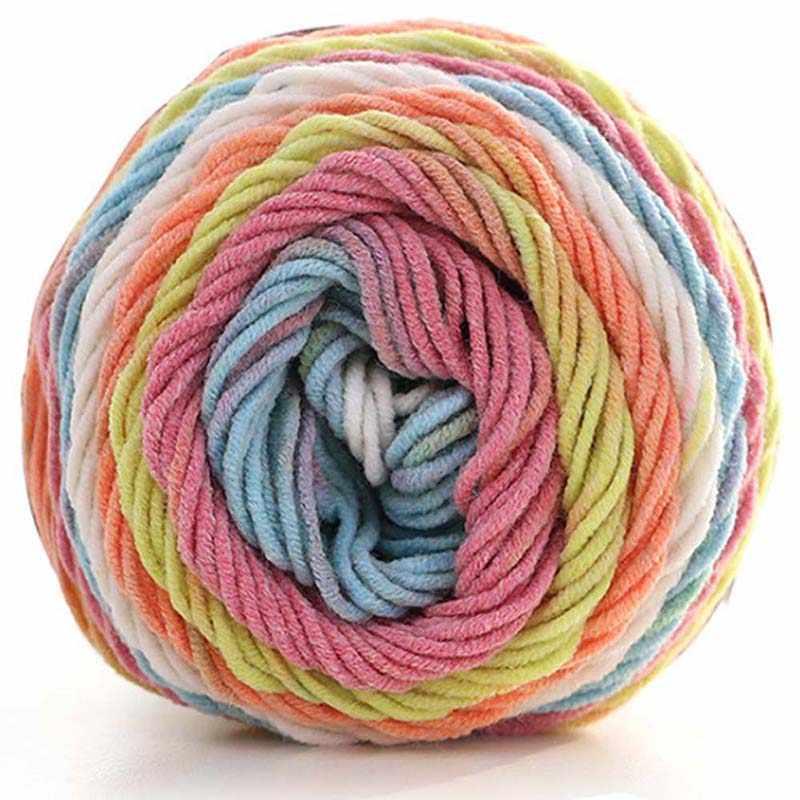 Naturel doux soie lait coton fil épais fil à tricoter amant foulards à tricoter laine Crochet fil armure fil bricolage pull