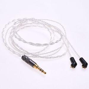 Image 3 - 1.2m (4ft) 5N OCC ชุบเงินหูฟังอัพเกรดสำหรับ Etymotic ER4P ER4B ER4S HIFI สาย 2Pin ปลั๊ก