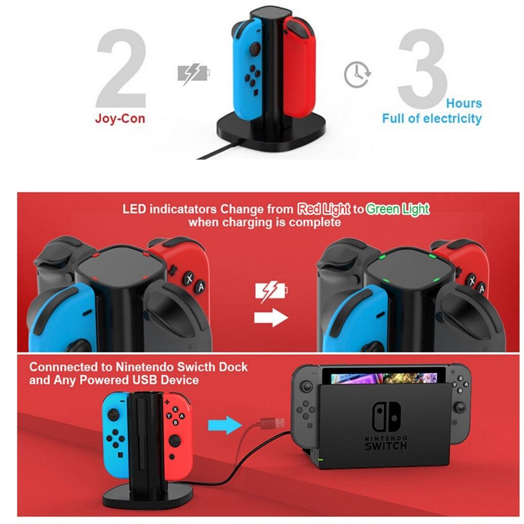 Зарядное устройство для Nintendo Switch Joy Con зарядная док-станция зарядное светодиодный светодиодной индикацией для Nintendo switch Joy-Con зарядная док-ста...