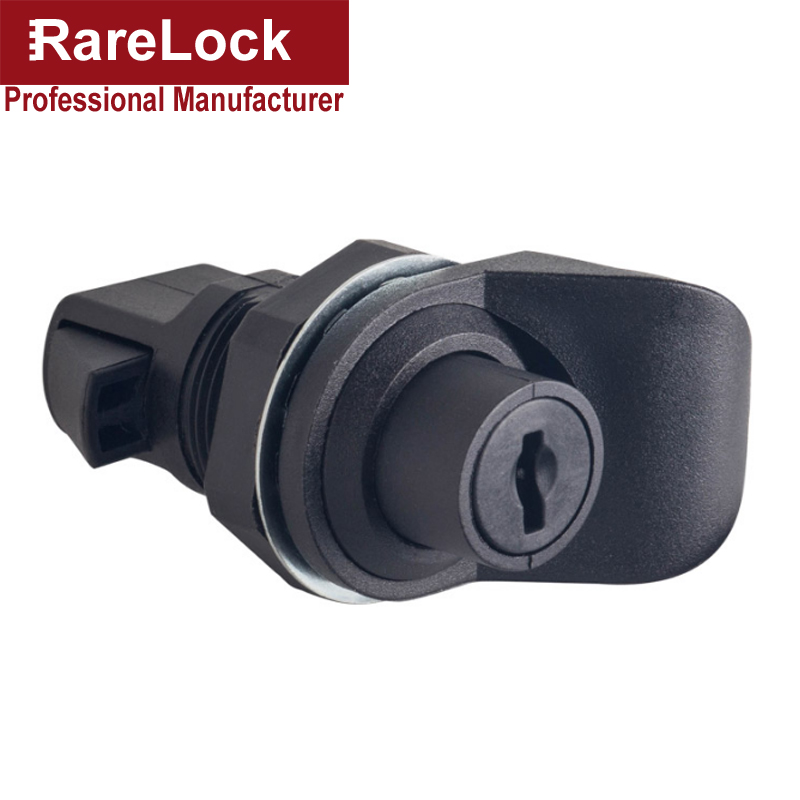 Switch Cabinet Door Lock with Knob PA6 Nylon for Electronical Box Boat Cupboard Car Truck Airbox DIY Rarelock MS575 h