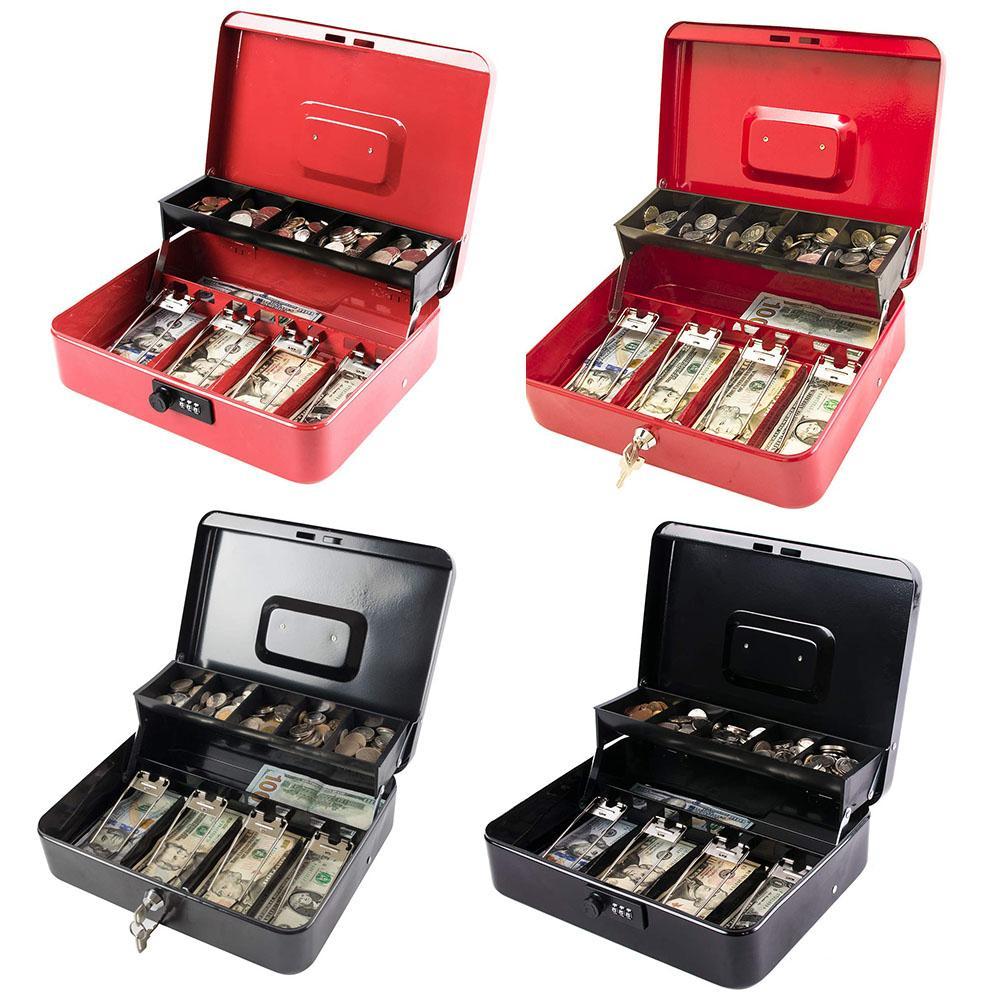 Grande boîte de rangement de pièces d'argent | Caisse de remplacement, insertion de plateau, coffre-fort, tiroir de rangement, boîte de registre, organisateur de classification