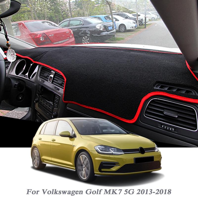 Car Styling Dashboard Protective Mat Shade Cushion Pad Rose Carpet Mat For Volkswagen Golf 7 MK7 5G 2013 2018 RHD&LHD Accessory Anti-Slip Mat     - title=
