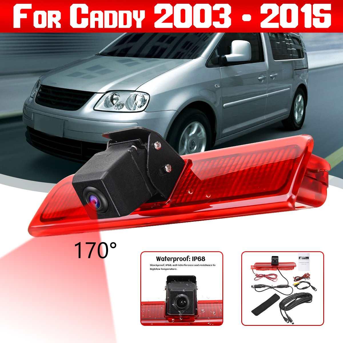 Car Rear View Camera Reverse Parking Backup 3rd Brake Light Night Vision Waterproof Monitor For VW Caddy 2003 - 2015
