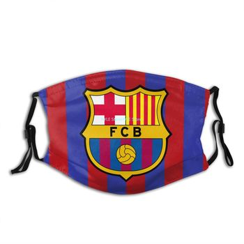 Barcelona Fc Football Club Mask Reusable Dust with PM2.5 Filters Breathable Safety Face Customized