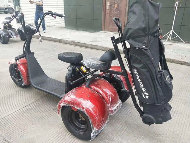 City Escooter 3Wheel Golf Cart EEC COC Approved Electric Cargo Tricycle Citycoco Golf Bag Cart Trike Motorcycle Electric Scooter 6