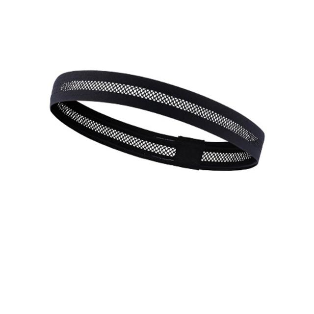 Hollow breathable sports headband running fitness non-slip antiperspirant belt riding pedal sports hair belt guide sweat belt 1