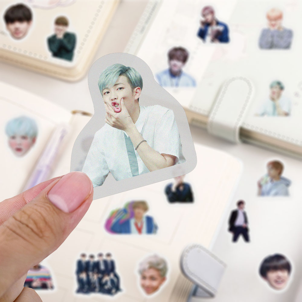 39Pcs Korean Kpop Star BTS JIMIN SUGA V Hand Account Stickers for Laptop Skateboard Luggage Notebook Decals Fans Collection Toys