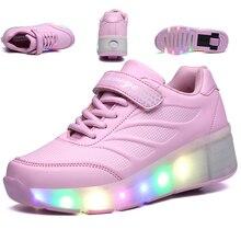 HYFMWZS модный детский Одноколесный скутер, меняющий цвет светодиодный светильник, USB зарядка, невидимые коньки 27-42