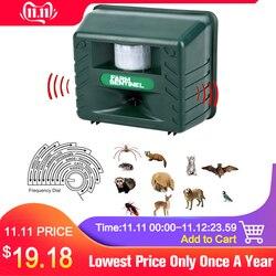 Repelente eletrônico ultra-sônico de alta potência da praga repelente animal expelir aves cães alarme analógico som inteligente eletrônico roedor repelente