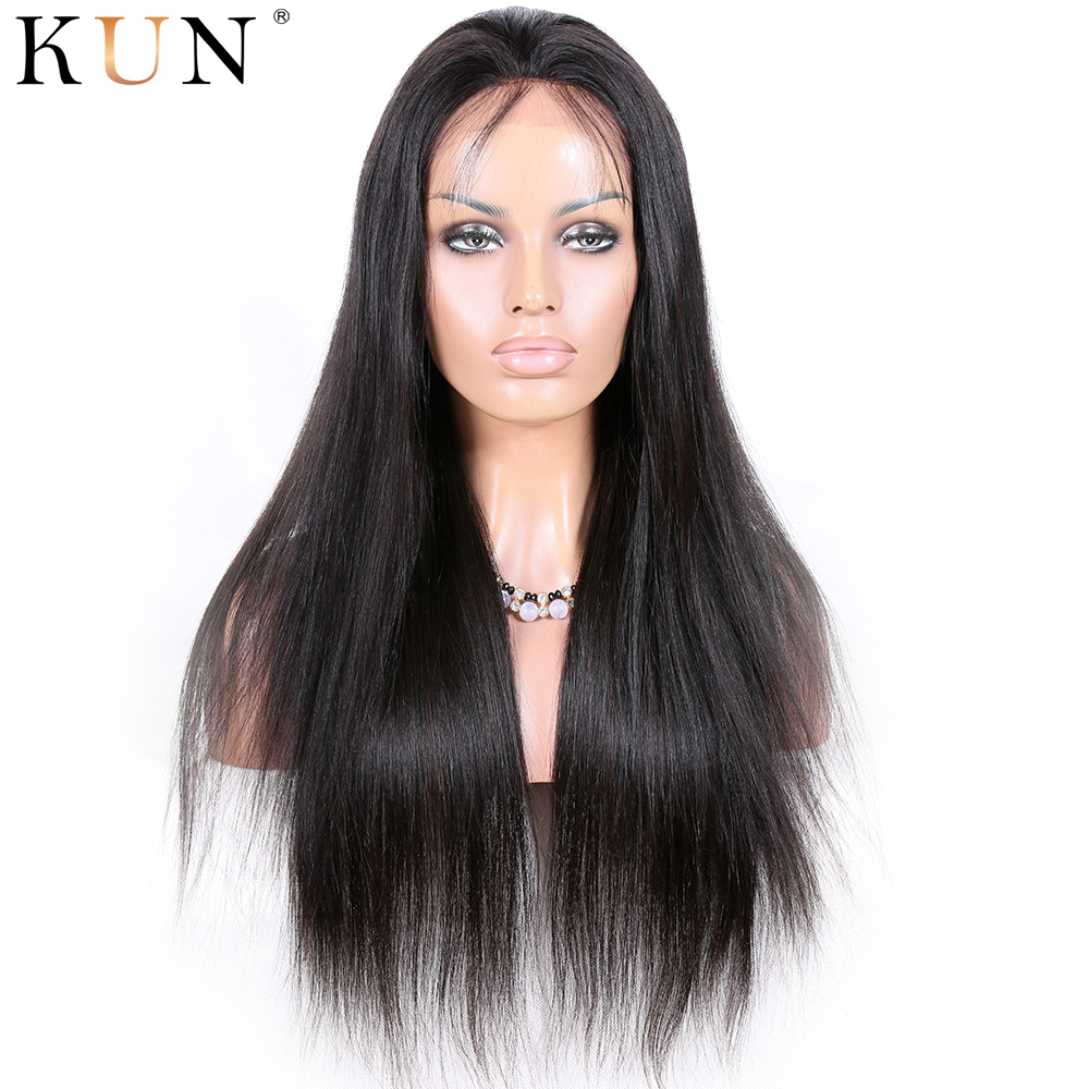 6 Inch Part 360 Lace Frontal Wig Straight Human Hair Wig 150 180 Density Pre Plucked With Baby Hair Remy 360x6 Lace Front Wig