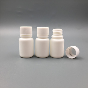 500pcs/lot 10g White Small Round Pill Bottle with Sealer, Mini Small Pill Container Box