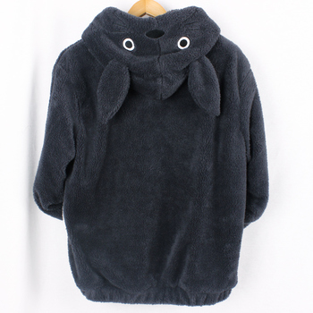 Totoro Kawaii Hoodie Sweatshirt My Neighbor Coat Cosplay Fleece Overcoat With Ears Harajuku Cute Jackets Christmas