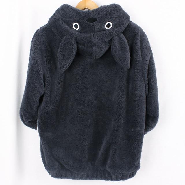 New Harajuku Totoro Kawaii Hoodie Sweatshirt My Neighbor Coat Cosplay Fleece Overcoat With Ears Harajuku Cute Jackets Christmas 1