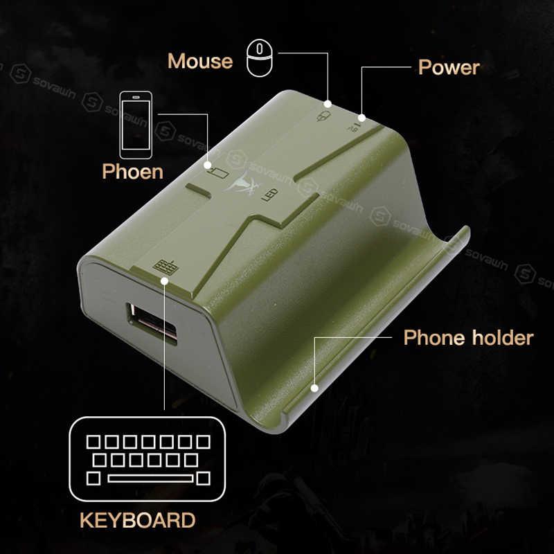 Sovawin G4 Pubg Bộ Điều Khiển Di Động Bộ Điều Khiển Chơi Game Bluetooth Chuột Bàn Phím Chuyển Đổi Có Dây Điện Thoại Chơi Game Android Dành Cho iPhone