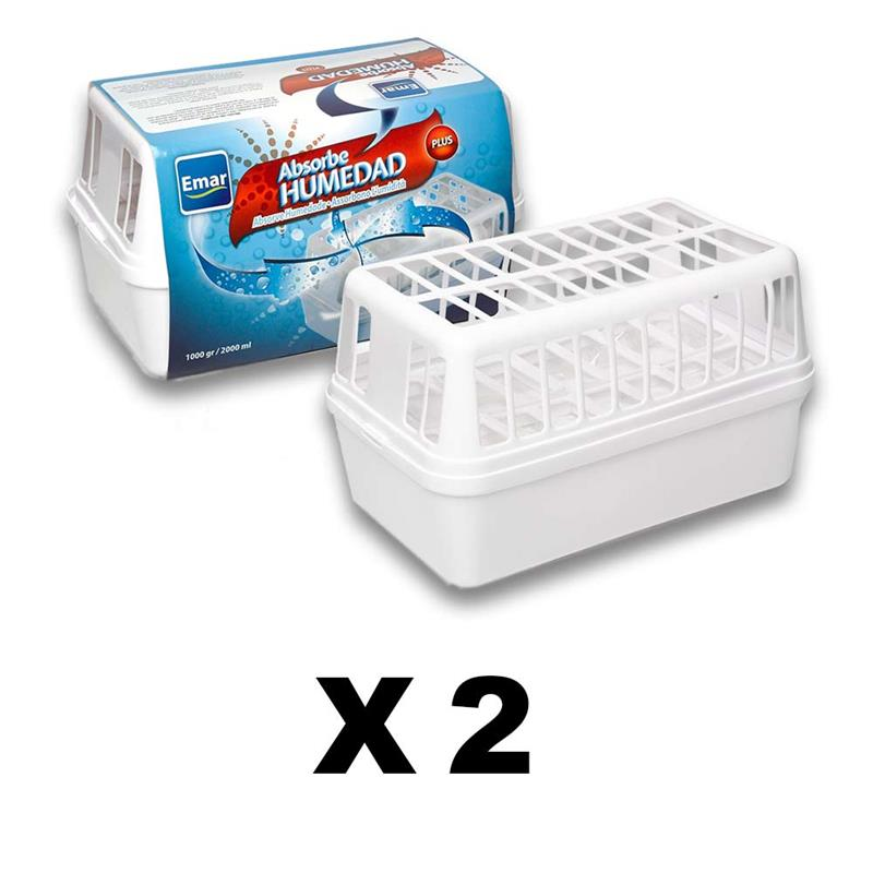 PACK 2 Units 7450-Absorbing Humidity 2000 Ml. Capacity Open