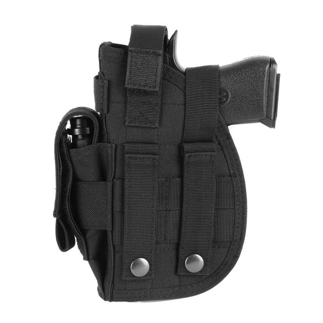 Tactical 600D Molle Gun Holster Military Rifle Bag for Right Hand Adjustable Handgun Holder with Mag Pouch Hunting Accessories 3