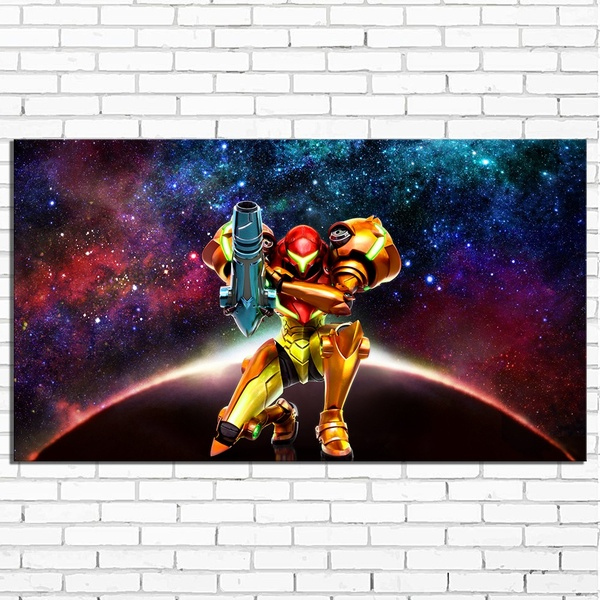 Hot Selling Home Decor Print oil painting on canvas Wall Art Decorations Wall Canvas ,METROID Game image