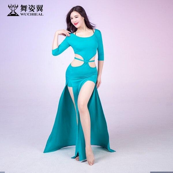 2009 New Belly Dance Costumes Oriental Dance Modal  Long Dress Belly Dance Practice Garment