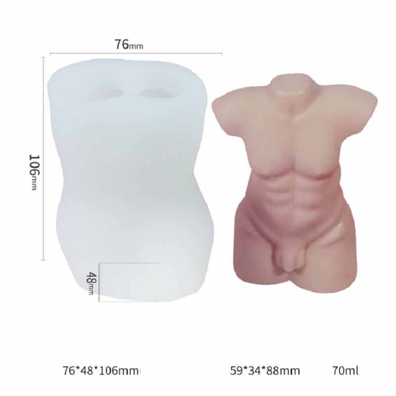 3D Male Female Model Body Silicone Resin Casting Mold Epoxy Mould Craft DIY