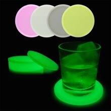 Esterilla de silicona con aislamiento para café, posavasos con botón, tazón taza, manteles individuales de mesa, manteles antideslizantes