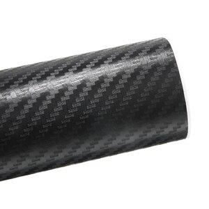Image 4 - 1pc 30x127cm 3D z włókna węglowego winylowa naklejka na samochód rolka arkusza Film samochód naklejki kalkomanie motocykl Auto DIY stylizacja akcesoria