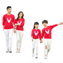 Matching Family Christmas Family-friendly Long-sleeved with One-piece T-shirt Clothes Fashion