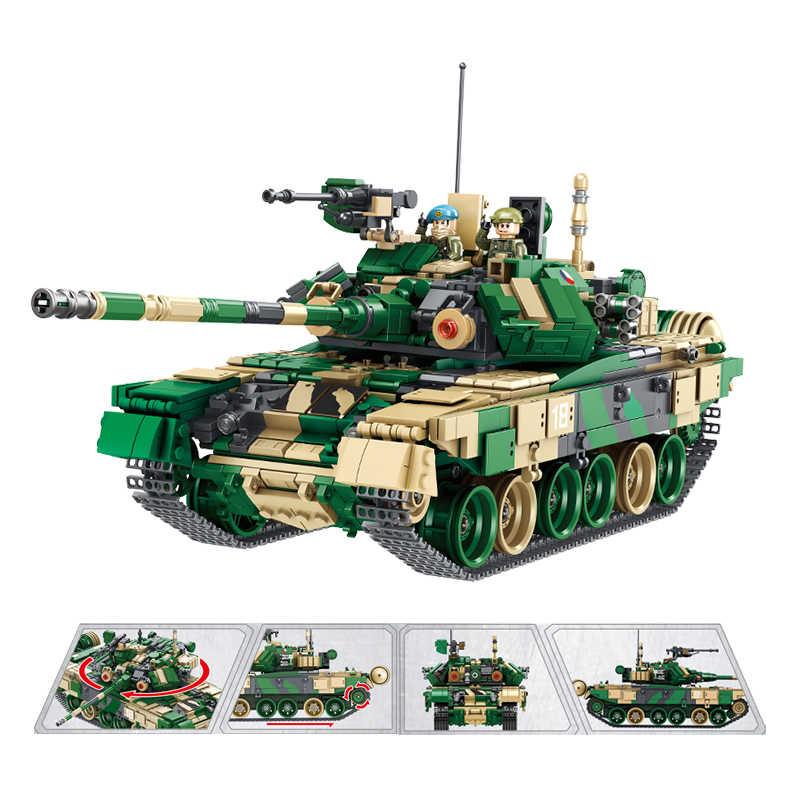 1773PCS Russland TT90 Tank Bausteine Technik Military Waffe WW2 Tank Soldat Polizei Waffe Ziegel Spielzeug für Kinder