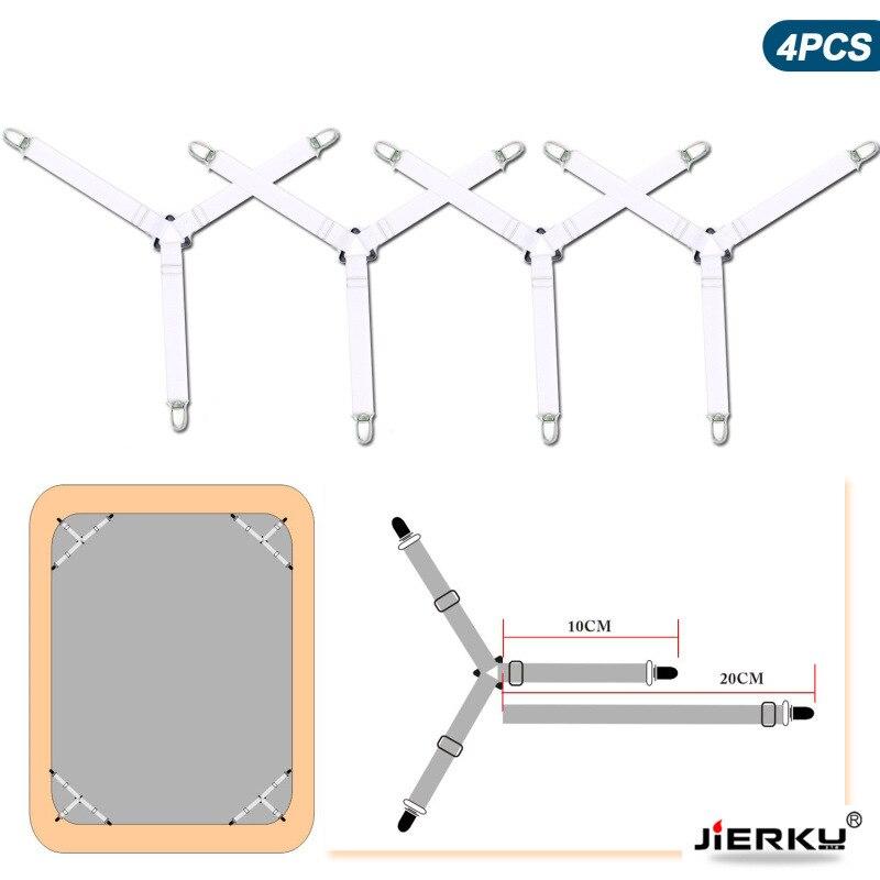 4Pcs/set Elastic Bed Sheet Grippers Belt Fastener Bed Sheet Clips Mattress Cover Blankets Holder Home Textiles Organize Gadgets