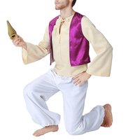 Halloween Party Arabia King Dress Costume Cosplay Male Adult Aladdin Prince Lantern Cosplay Costume for Man Clothing