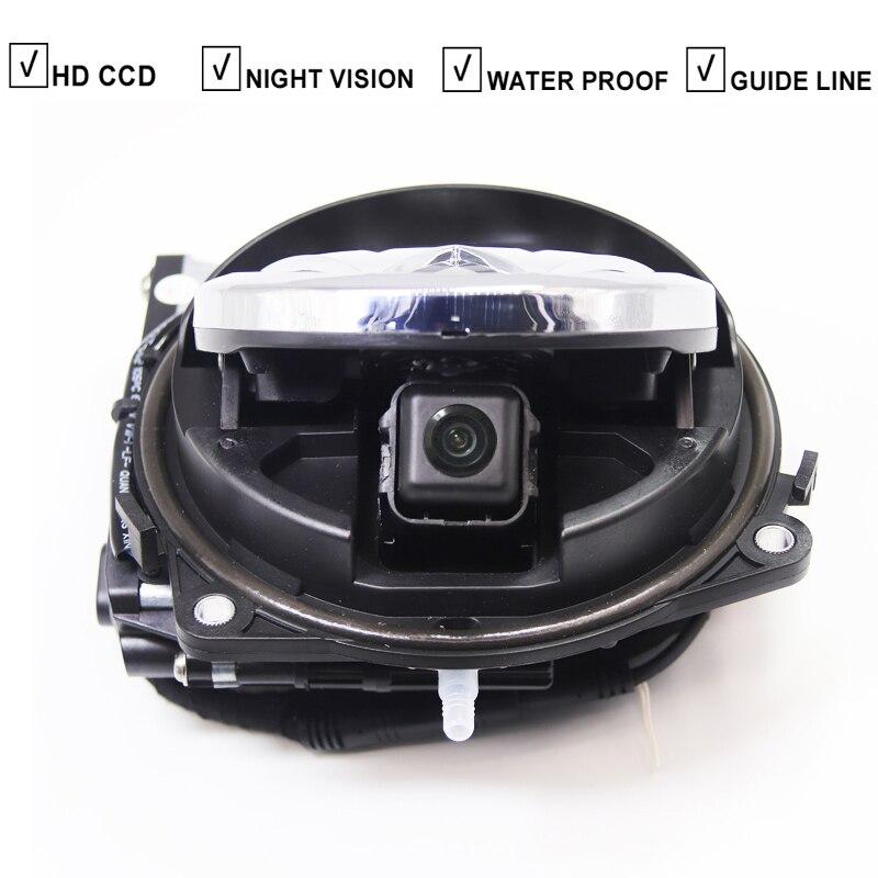 Logotipo da aleta vw distintivo câmera de visão traseira para volkswagen passat b6 b7 b8 cc golf 6 7 polo besouro emblema automático câmera lançando logotipo ccd