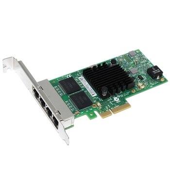 Network Card PCI-Express PCIe X4 Four RJ45 Gigabit Ports Server Adapter NIC I350-T4
