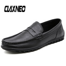 Buy CLAXNEO Man Moccasins Slip on Summer Autumn Mens Leather Shoes Casual Boat Shoe Genuine Leather White Loafers Breathable directly from merchant!