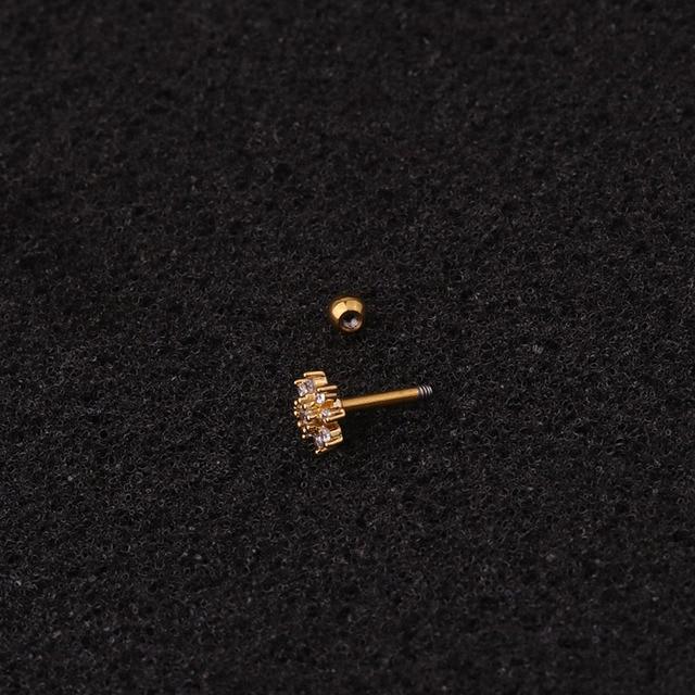 1Pc Stainless Steel Cartilage Earring Women Fashion CZ Dainty Ear Tragus Conch Screw Back Stud Earring.jpg 640x640 - 1Pc Stainless Steel Cartilage Earring Women Fashion CZ Dainty Ear Tragus Conch Screw Back Stud Earring Helix Piercing Jewelry