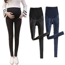 купить Elastic Maternity Pants Jeans Pregnancy Clothing Trousers for Pregnant Women Wear  Jeans Maternity Clothing Abdomen Adjustable дешево