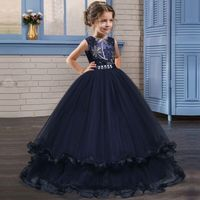 New Cosplay Costume for Girls Summer Make up Party Clothing Kids Halloween Princess Ariel Dress up Outfit